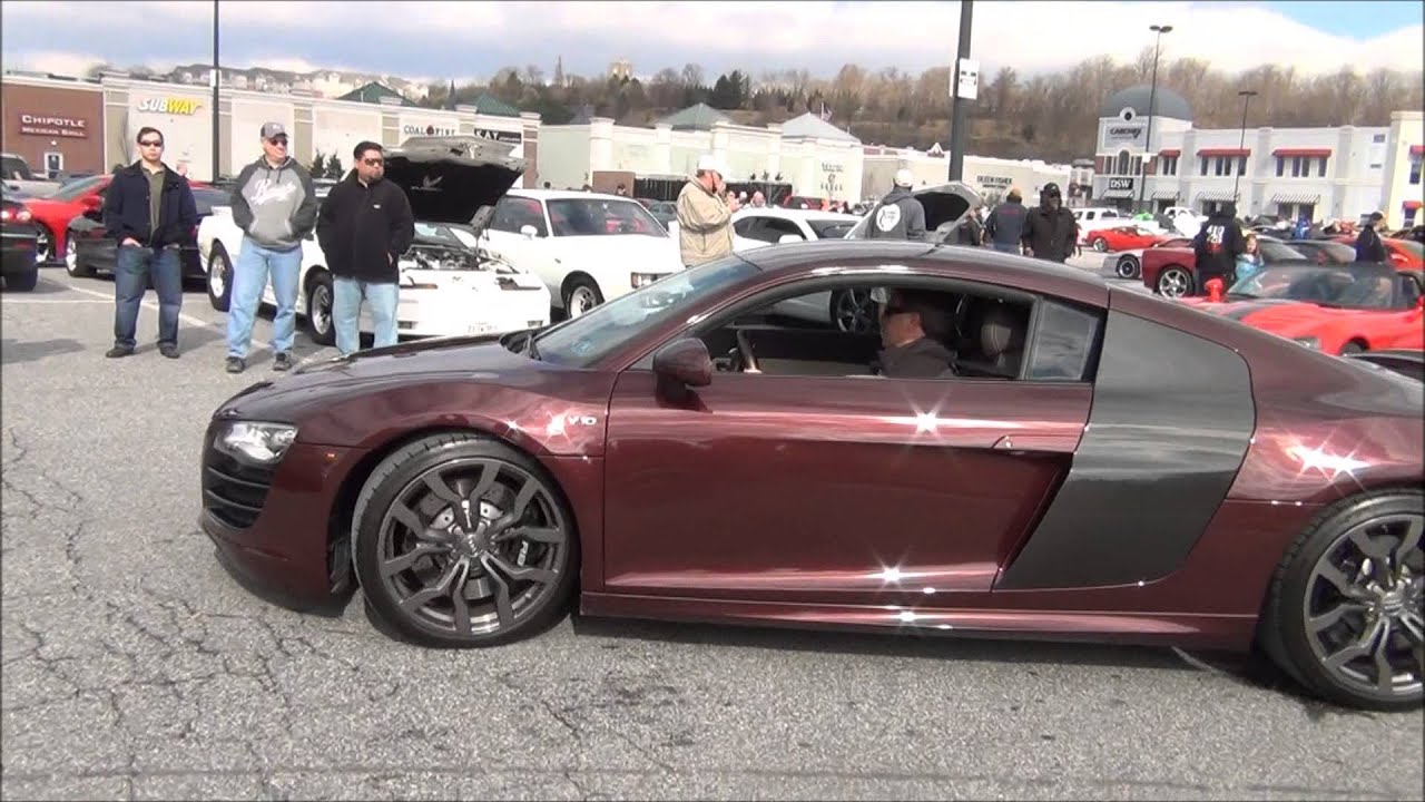 1RON MAN Audi R8 V10 Rare Color In Hunt Valley HorsePower - YouTube