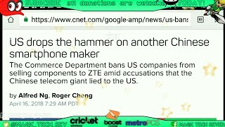 ZTE GETS BANNED FROM US EXPORTS! CAN NOT BUY TECH FROM US ARE THEY DOOMED?