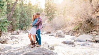 Stunning Engagement in Steamboat Springs at Fish Creek Falls