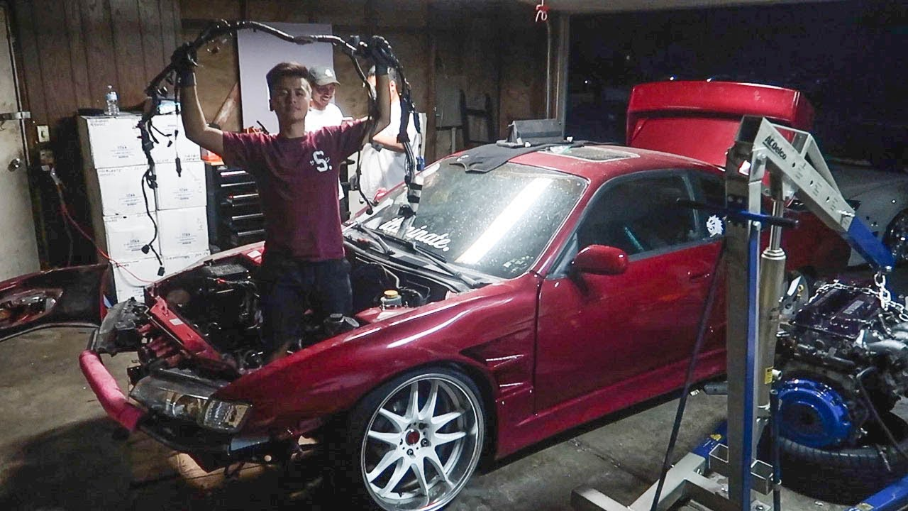 240sx battery relocation wiring harness install! youtube240sx battery relocation wiring harness install!