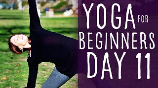 16 Minute Yoga For Beginners 30 Day Challenge Day 11 With Fightmaster Yoga