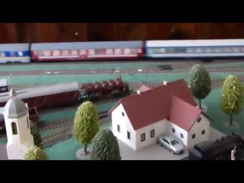 Passenger Trains with Digital LED Lights