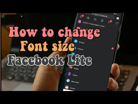 How To Change Font Size ∆ Facebook Lite
