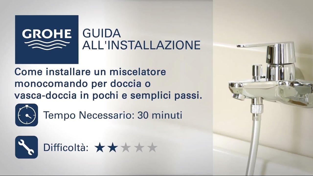 Miscelatore vasca da bagno con monocomando Grohe | Come si installa ...