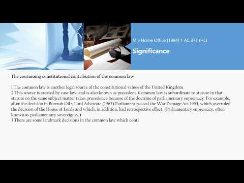 [Case Law Constitutional & Administrative] M v Home Office [1994] 1 AC 377 (HL)