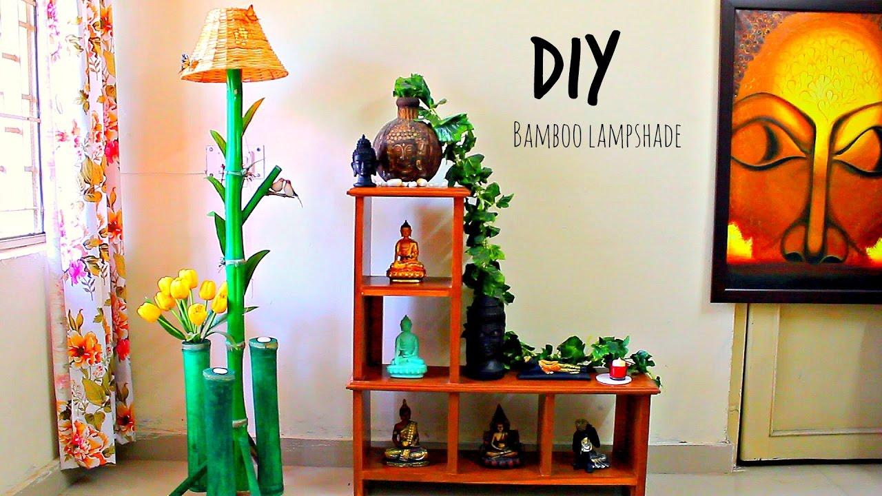 How to make floor lamp using bamboo I DIY home decor - YouTube