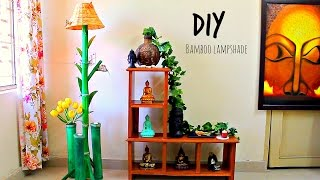 How to make floor lamp using bamboo I  DIY home decor
