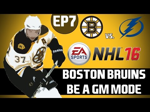 NHL 16: Boston Bruins Be a GM Mode - Kicking off the Trade Deadline [Y1G63 EP7