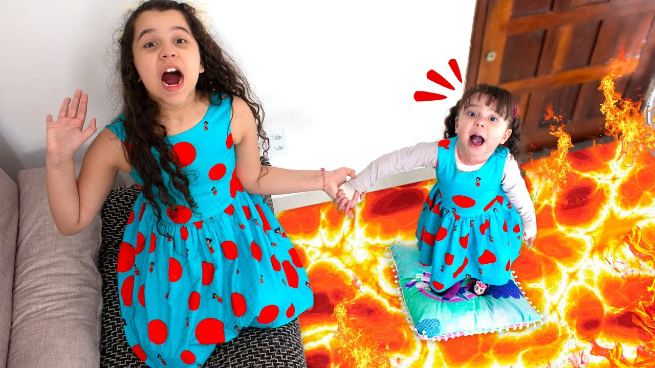 O CHÃO É LAVA COM SARAH E ELOAH ! / The Floor is Lava