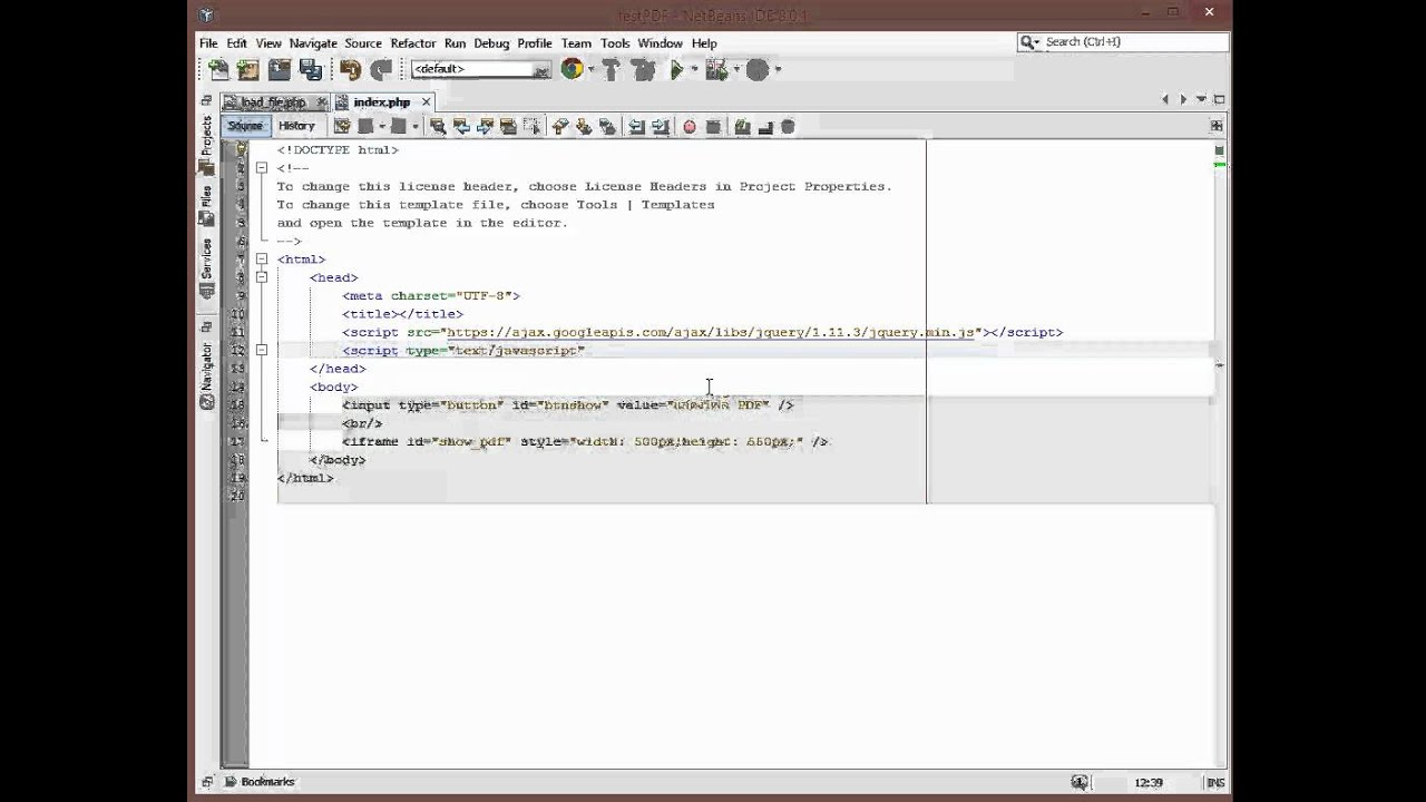 php show pdf in browser - YouTube