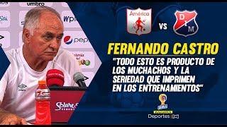 America 3-0 Medellin Fernando Castro rueda de prensa I Deportes RCN