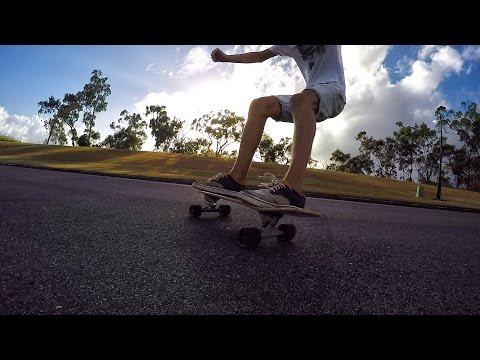 Slide with Carver Skate Board in Australia Sunshine Coast - LITTLE DOWNHILL - C7 trucks