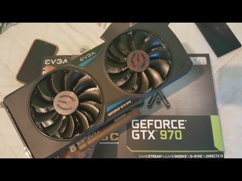 EVGA Geforce GTX 970 4GB SuperClocked Graphics Card Unboxing