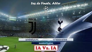 Juventus* - Tottenham* [PES 2018] | UEFA Champions League (8es de Finale, Aller) | IA Vs. IA