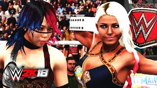 WWE 2K18 Asuka vs Alexa Bliss SURPRISE ENDING (WWE 2K18 Early Look)