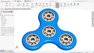 Solidworks tutorial  Design of Fidget Spinner in Solidworks