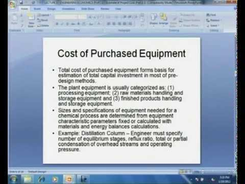 Mod-08 Lec-04 Project Cost Estimation (Part I)