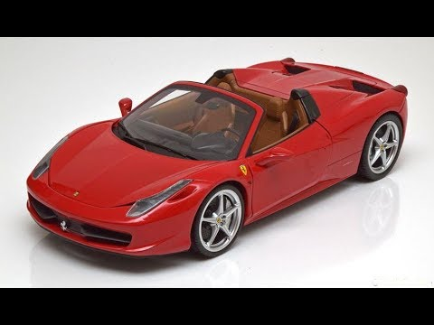 1:18 Hot Wheels ferrari 458 Italia Spider 2011 red