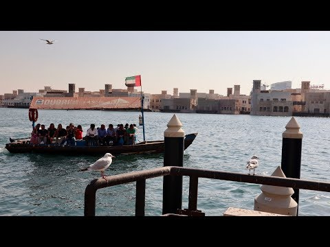 Riding Abra (boat) across Dubai Creek for only 1 Dirham!