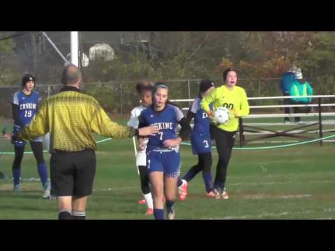 Highlights of Oceanside Girls Soccer Quarterfinal Matchup with Erskine Academy