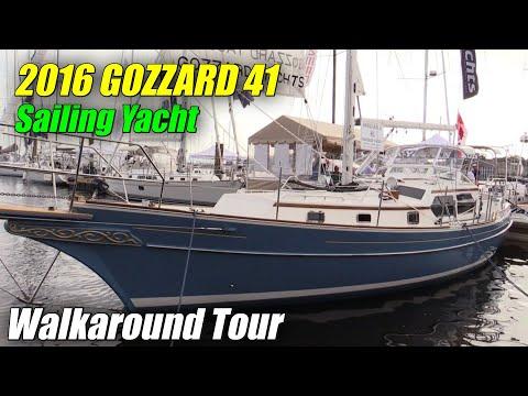 2017 Gozzard 41 Sailing Yacht - Deck and Interior Walkaround - 2016 Annapolis Sailboat Show