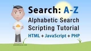 Alphabetic Search First Letter A-Z Script Tutorial PHP MySQL JavaScript HTML