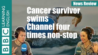 Cancer survivor Sarah Thomas swims the English Channel four times non-stop - News Review