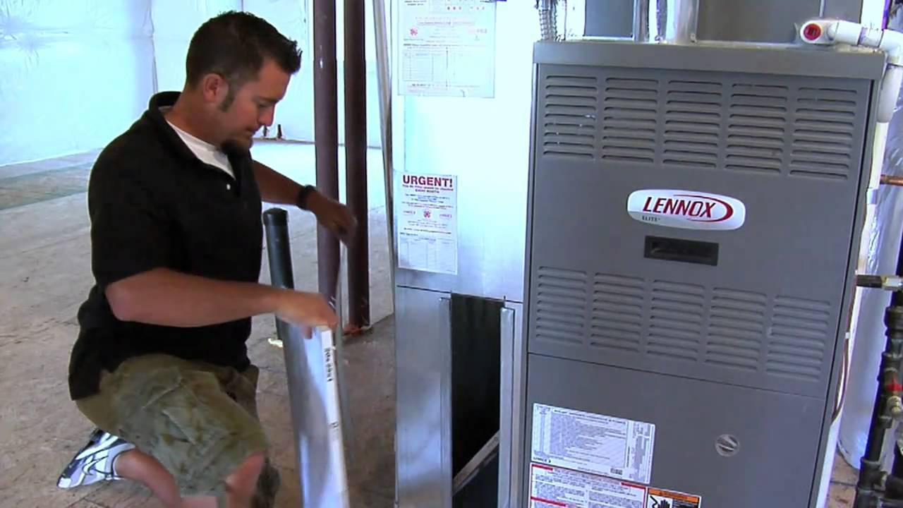 Lennox Air Conditioning >> How to replace a furnace filter - YouTube
