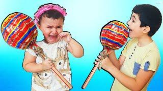 Hasouna Steal Big Lollipop From Celina - حسونة يسرق الحلوى من سيلينا