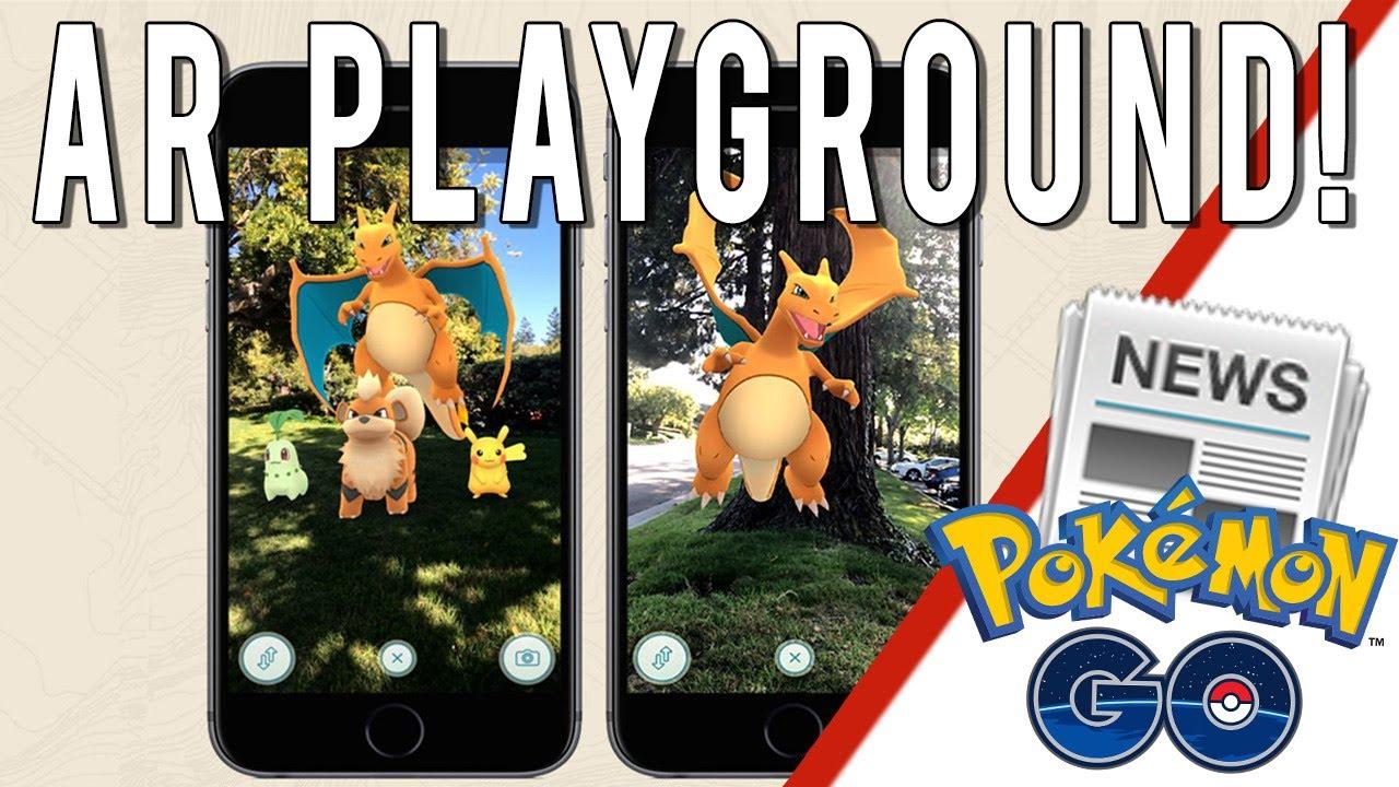NEW AR PLAYGROUND MODE Pokemon GO ARKit Tech Demo News Apple WWDC San Jose IOS11 Kit