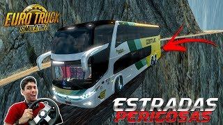 Curva Difícil Estrada Perigosa, Ônibus Viação Gontijo ACIDENTE FATAL - Euro Truck Simulator 2 - G27!