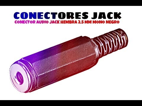 Video de Conector audio jack hembra 2.5 mm mono  Negro