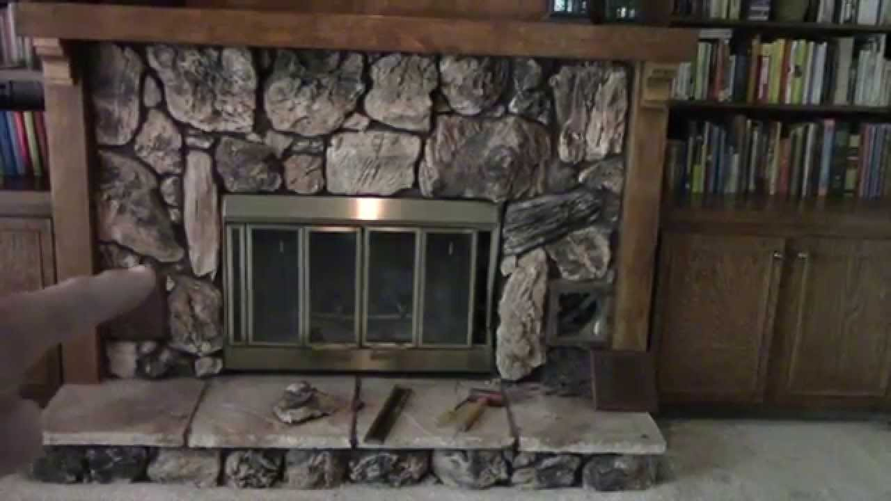 Removing an old heatilator fireplace youtube for New construction wood burning fireplace