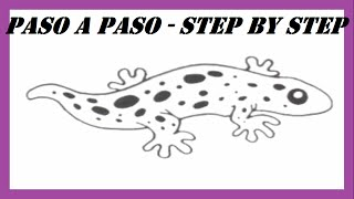Como dibujar una Salamandra l How to draw a salamander l Dibujos Fáciles l Easy Drawings
