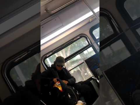 On Bus 41 Fresno,  CA.  A Threat To Fresno Captured  On Video