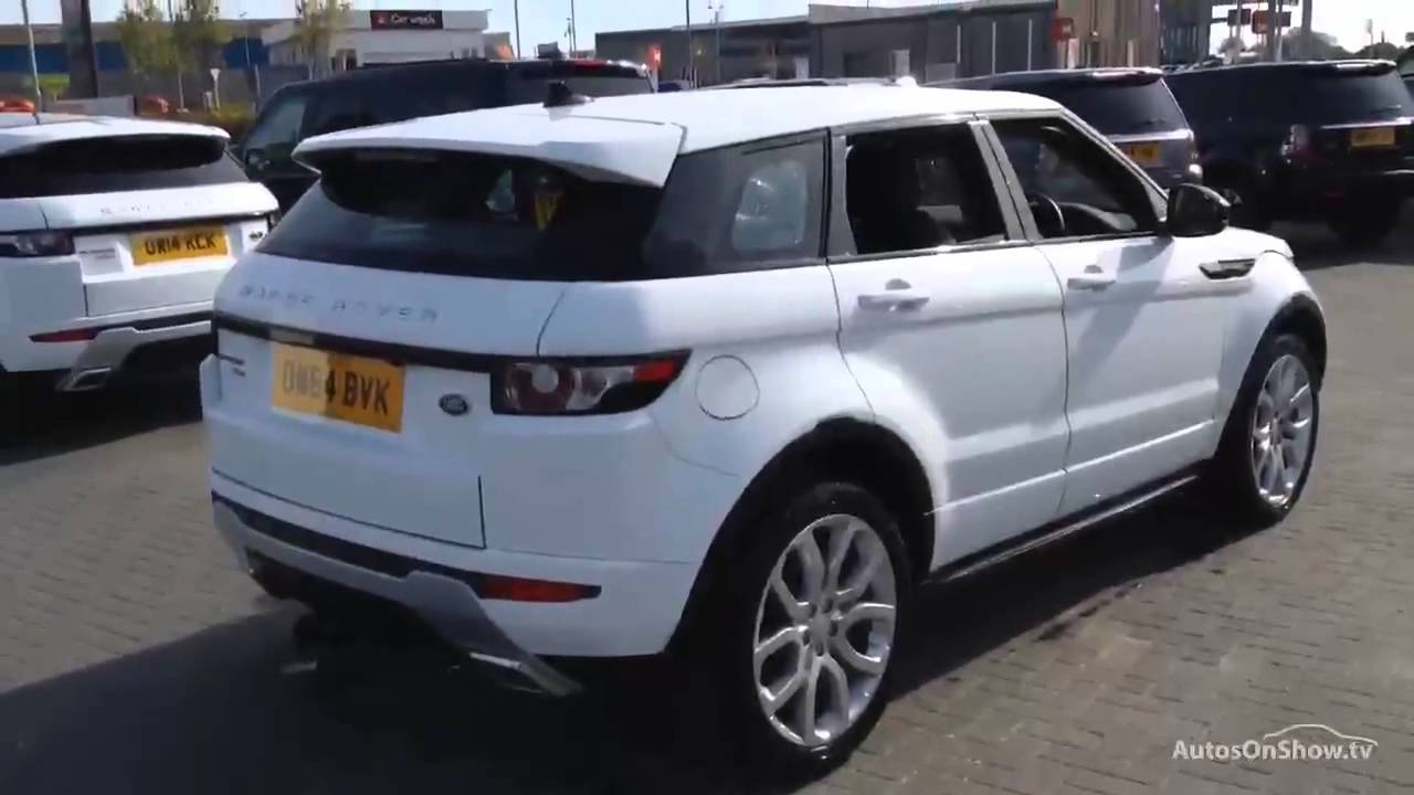 Land Rover Range Evoque Sd4 Dynamic White 2015 Youtube