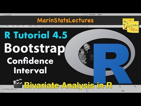 Bootstrap Confidence Interval With R   R Video Tutorial 4.5   MarinStatsLectures