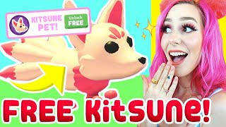 How to get a FŔEE KITSUNE! Legendary KITSUNE Pet! Adopt Me (Roblox)
