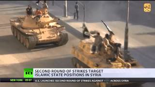 Second round of US strikes targets ISIS positions in Syria