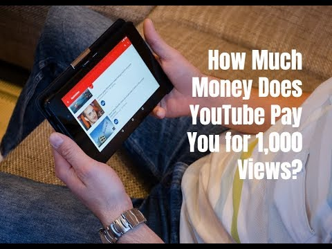 How Much Money Does YouTube Pay You for 1,000 Views?