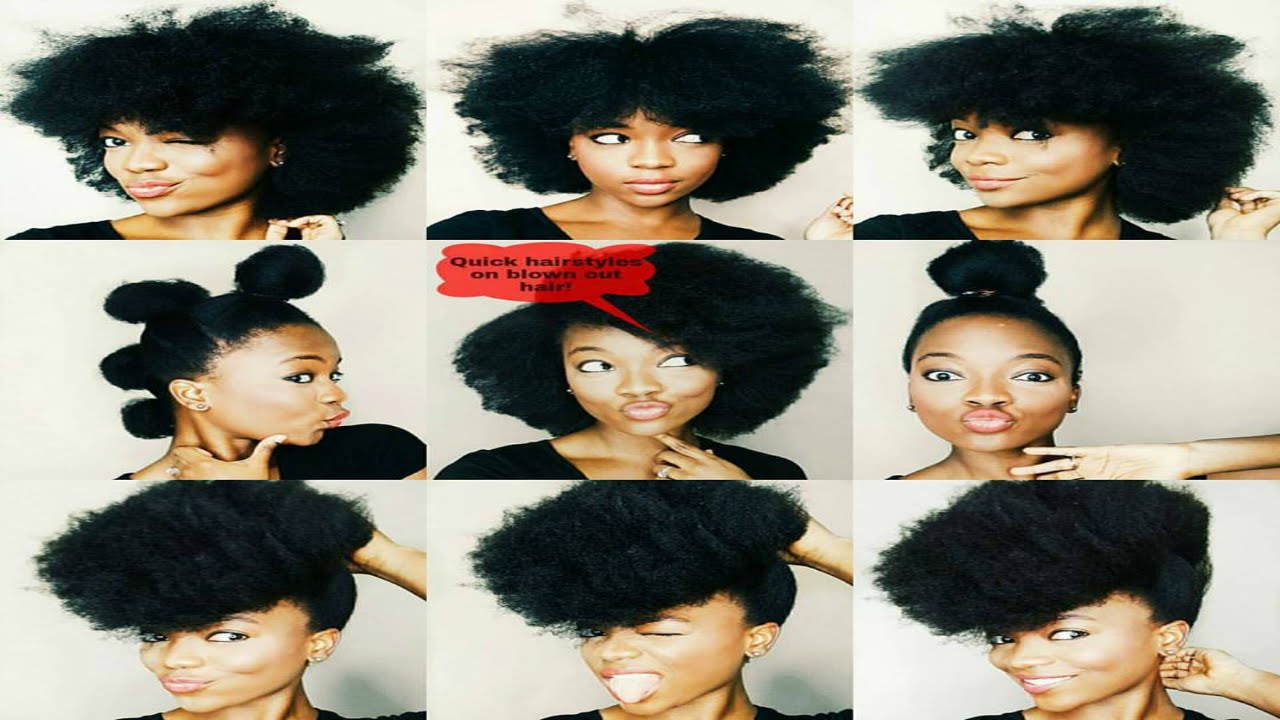 5 quick & easy hairstyles on blown out natural hai