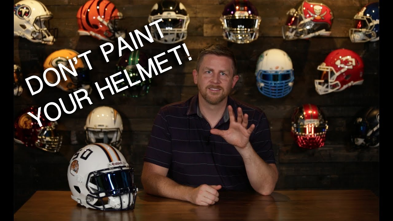 b271b490 Why NOT to Paint Your Own Football Helmet - Goto NAERA.NET to Find ...