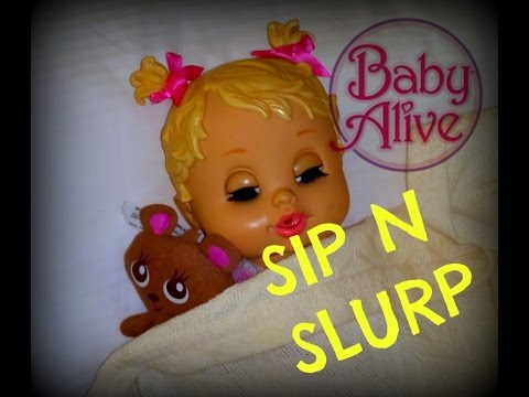 Sip N Slurp Baby Alive Sucks A Silly Straw Poo And Pee Diaper Change Nap Youtube