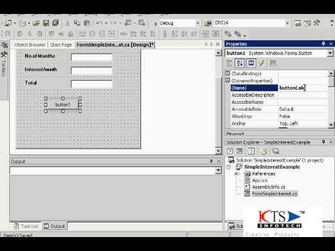 Developing a basic windows application using C#.NET| Windows Programming| C#.NET  Tutorials