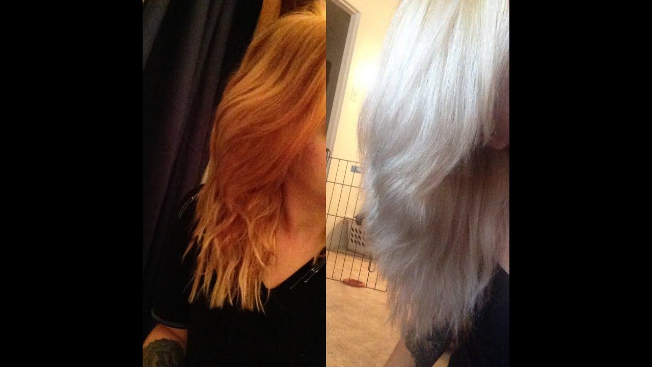 Toning Orange Hair Youtube