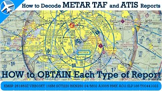 How To Obtain And Decode METAR, TAF, And ATIS Reports - 100th Video!