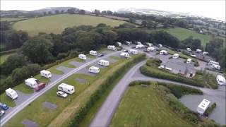 Buggsie and Paul fly over Plas farm caravan site north wales