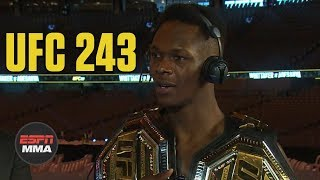 Israel Adesanya is staying humble after beating Robert Whittaker  | UFC 243 Post Show | ESPN MMA
