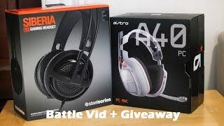 Steelseries Siberia V3 vs Astro A40 Battle Vid + Giveaway!!!