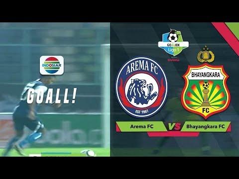 Goal Kedua Dedik Setiawan  Arema FC 4 vs Bhayangkara FC 0  GoJek Liga 1 Bersama Bukalapak